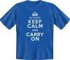Fun Shirt 50 YEARS KEEP CALM AND CARRY ON