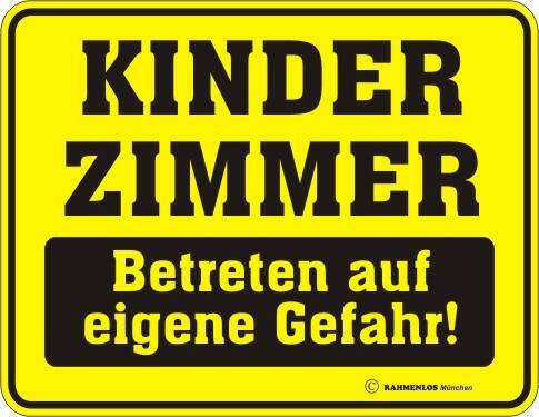 Kinderzimmer Schild | Blechschild Mit Spruch Kinderzimmer Betreten Auf Eigene Gefahr
