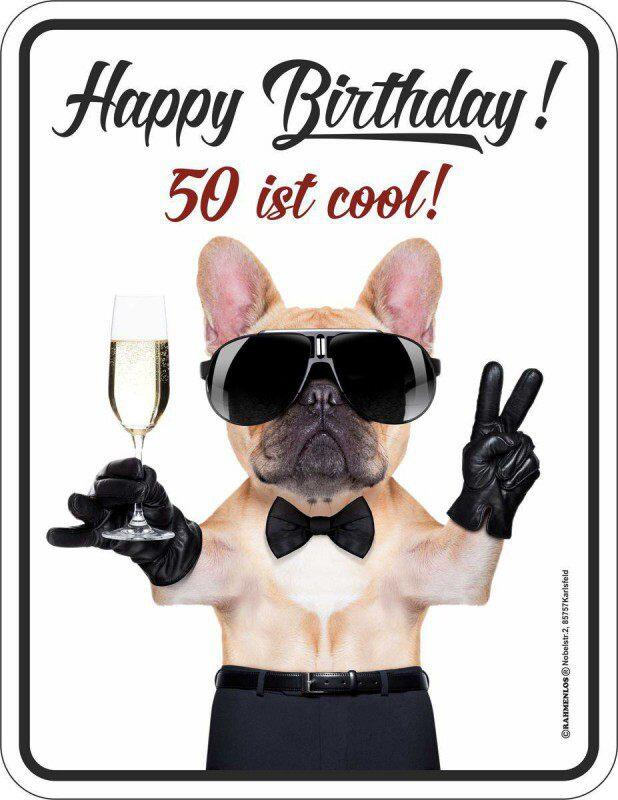 Blechschild Happy Birthday 50 ist cool