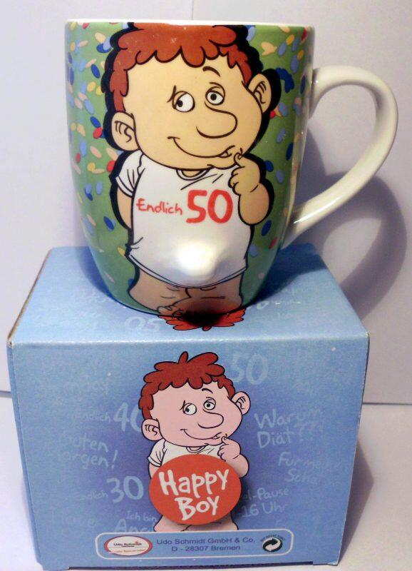 Tasse Happy Boy Endlich 50