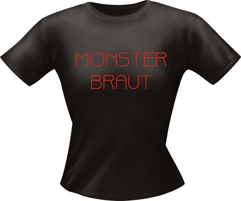 Lady Fun-Shirt mit Spruch: MONSTER BRAUT