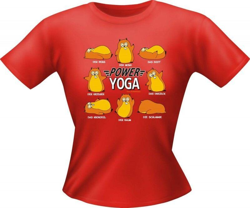 Lady Fun-Shirt mit Spruch: POWER YOGA