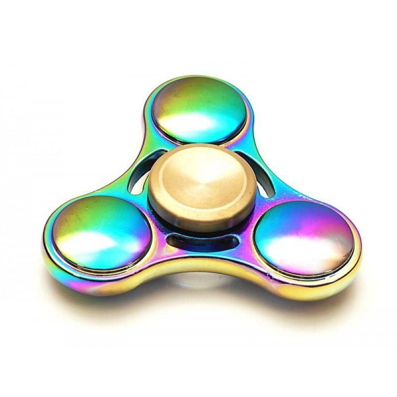 Fidget Finger Spinner Rainbow Metall
