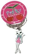 "Halskette ""Lady Kitty"" Kette Rockabilly Cat, Accessoires Modeschmuck"
