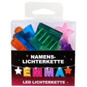 LED Namens-Lichterkette EMMA Lichterkette Name Deko innen