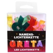 LED Namens-Lichterkette GRETA Lichterkette Name Deko innen