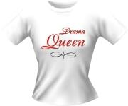 T-Shirt Lady Girlie DRAMA QUEEN PARTY Shirt Spruch witzig Fun