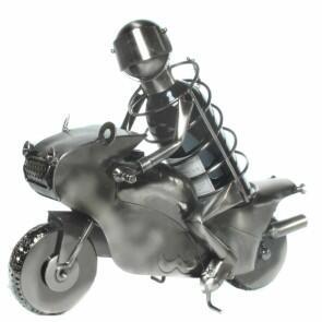 flaschenhalter motorradfahrer aus metall flaschenst nder. Black Bedroom Furniture Sets. Home Design Ideas