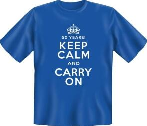 50 YEARS KEEP CALM AND CARRY ON