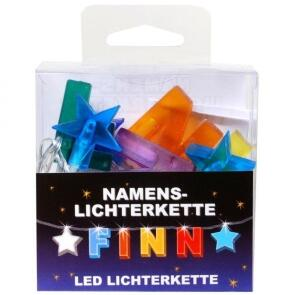 LED Namens-Lichterkette FINN