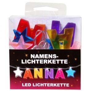 LED Namens-Lichterkette ANNA