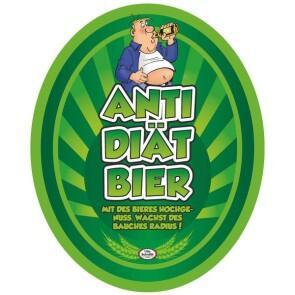 Aufkleber Anti Diat Bier Etikett Bierflasche Selbstklebend