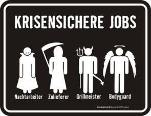 Blechschild Krisensicher Job Chef Firma Arbeit Mitarbeiter Huslage24