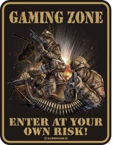Blechschild GAMING ZONE