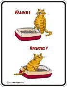 Blechschild  Katzenklo