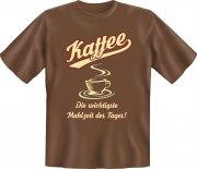 Fun Shirt Kaffee Mahzeit des Tages