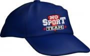 """Caps Fun """"NO SPORT TEAM"""", Basecap Cap bestickt blau, größenverstellbar"""