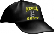 """Caps Fun """"KEGELGOTT"""", Basecap Cap bestickt schwarz, größenverstellbar"""