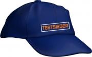"""Caps Fun """"TESTSIEGER"""", Basecap Cap bestickt blau, größenverstellbar"""