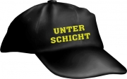 "Caps Fun ""UNTERSCHICHT"", Basecap Cap bestickt schwarz, größenverstellbar"