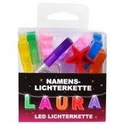 LED Namens-Lichterkette LAURA Lichterkette Name Deko innen