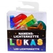 LED Namens-Lichterkette LUKAS Lichterkette Name Deko innen
