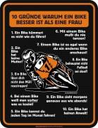 Blechschild 10 Gründe Bike besser