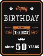 Blechschild  Happy Birthday THE BEST 50