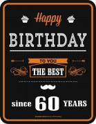 Blechschild  Happy Birthday THE BEST 60