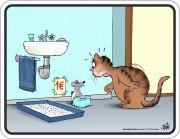 Blechschild ULI STEIN Katzenklo 1