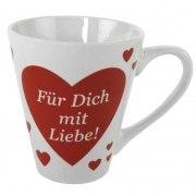 Kaffeebecher Herz Für dich  mit Liebe Tasse Geschenk