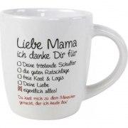 Kaffeebecher Liebe Mama Tasse Becher Mutter Muttertag Geschenk