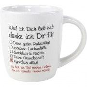 Kaffeebecher Weil ich dich lieb hab Tasse Geschenk Valentinstag