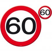 Platzset Platzmatten und Untersetzer 60, 8-teilig rund 60. Geburtstag