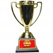 Pokal / Auszeichnung LIEBSTE OMA DER WELT! Geschenkidee für einen besonderen Menschen