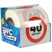 """Toilettenpapier witzig """"40 und sexy!"""" WC Klopapier mit Sprüchen 40 Jahre zum Geburtstag"""