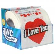 Toilettenpapier witzig I LOVE YOU! WC Klopapier mit Sprüchen