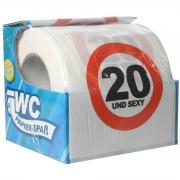 """Toilettenpapier witzig """"20 und sexy!"""" WC Klopapier mit Sprüchen 20 Jahre zum Geburtstag"""