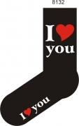 "Socken FUN ""I love you"", Strümpfe mit witzigem Spruch, Fun Sox"
