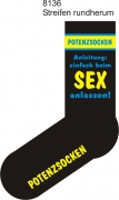 "Socken FUN ""POTENZSOCKEN Anleitung:einfach beim SEX anlassen!"", Strümpfe mit witzigem Spruch, Fun Sox"