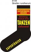 """Socken FUN """"SUPERTÄNZER SOCKEN Anleitung:einfach beim Tanzen anlassen!"""", Strümpfe mit witzigem Spruch, Fun Sox"""