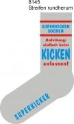 """Socken FUN """"SUPERKICKERSOCKEN Anleitung:einfach beim KICKEN anlassen"""", Strümpfe mit witzigem Spruch, Fun Sox"""