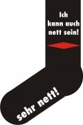 """Socken FUN """"Ich kann auch nett sein!"""", Strümpfe mit witzigem Spruch, Fun Sox"""