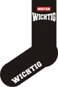"""Socken FUN """"MISTER WICHTIG"""", Strümpfe mit witzigem Spruch, Fun Sox"""