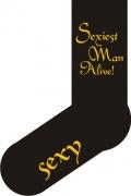 """Socken FUN """"Sexiest Man Alive"""", Strümpfe mit witzigem Spruch, Fun Sox"""