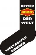"""Socken FUN """"BESTER BRUDER DER WELT"""", Strümpfe mit witzigem Spruch, Fun Sox"""