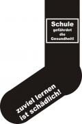 """Socken FUN """"Schule gefährdet die Gesundheit """", Strümpfe mit witzigem Spruch, Fun Sox"""