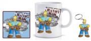 Simpsons Homer Handy Man Tasse Becher Set Geschenk Kaffeebecher Schlüsselanhänger 3-teilig