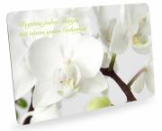 Frühstücksbrettchen Orchideen Zitat Schneidebrett Brettchen