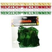 Girlande Herzlich Willkommen Party Dekoration 2,20 m